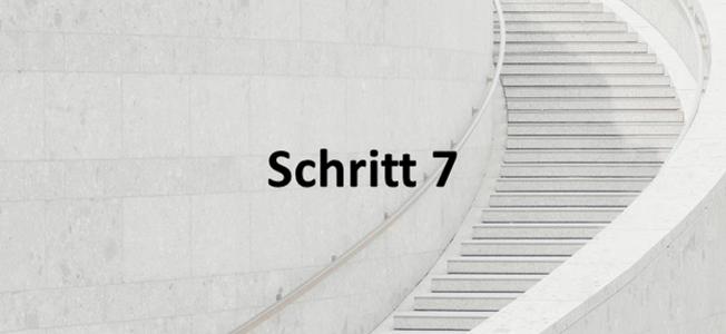 Schritt 7: Mandatsarbeit & Feedback